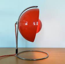 red vp4 flowerpot table lamp by verner panton for louis poulsen denmark 1968
