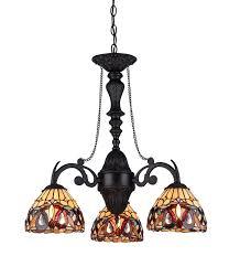 style lighting. Chloe Lighting CH33353VR21-DC3 Serenity Tiffany-Style Victorian 3-Light Mini Chandelier, 20.5\ Style T