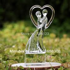 crystal gl figurines for birthday wedding gift and home decoration valentine s gift crystal souvenior in statues sculptures from home