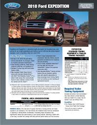 2009 Ford Ranger Towing Capacity Chart 2010 Ford Expedition Towing Guide Specifications Capabilities