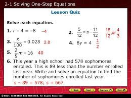 2 1 practice solving one step equations form k tessshlo