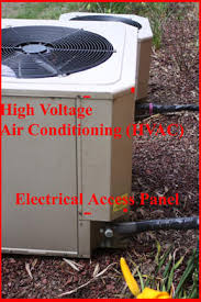 hvac outside compressor or fan motor not running under the access panel you will a tangle of wires and 2 or be three components