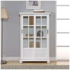 popular ameriwood home abel place white glass door bookcase hd51330 the with regard to white