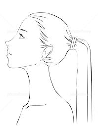 女性の横顔 イラスト素材 5169945 フォトライブラリー Photolibrary