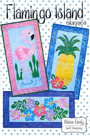 eQuilter Flamingo Island Skinnies - Pattern by Ribbon Candy Quilt ... & Flamingo Island Skinnies - Pattern by Ribbon Candy Quilt Company Adamdwight.com