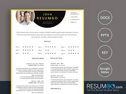 Paraskeve Yellow Border Resume Template Resumgocom