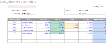 Schedule Document Template Free Employee Schedule Templates Instructions
