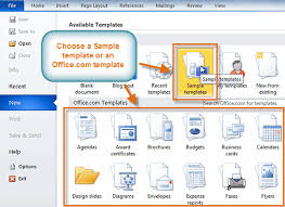 Word 2010 Using A Template