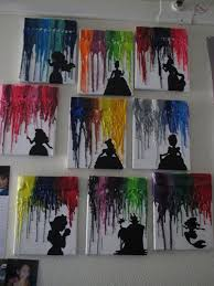 melted crayon disney art 15 diy teen girl room ideas