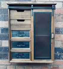 industrial wall cabinet vintage retro