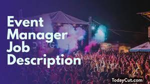Music Manager Job Description Event Manager Job Description Sample Salary Duties