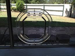 image of medium size sliding glass door pet door