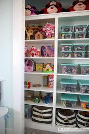 toy organization in closet