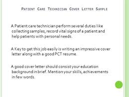 the key to cover letters patient care technician cover letter no experience authorstream