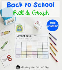Free Back To School Roll And Graph Math Activity For Pre K