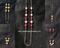 Light Weight Black Beads Black Beads Chains From 8gms Onwards Latest Indian