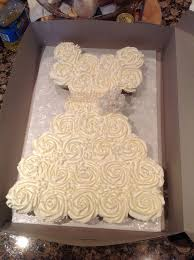 Bridal Dress Cupcake Cake internationaldot