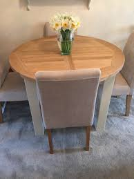 charltons bretagne 1100 round extending erfly dining table 4 to 6 seater dining table b105 height 780mm width 1100mm closed length 1100mm