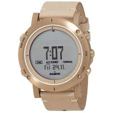 suunto ss021214000 uni essential gold leather digital dial