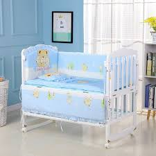 5pcs set infant bedding set cotton newborn baby crib pers safety bed fence protector baby room decor bedding pers zt12