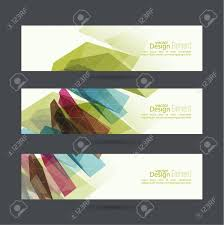 Trellis Web Design Set Of Abstract Banners Header Colored Crystals Trellis Structure