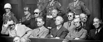 the nuremberg trials started years ago today here are the  photo taken in 1946 during the nuremberg trial from l to r first row in the dock hermann goering rudolf hess joachim von ribbentrop wilhelm keitel