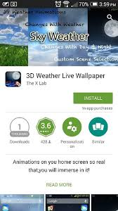 weather animations like the htc one x