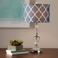 glamorous table lamp shade the cap of the glass and fabric canvas white ash