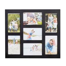sentinel vonhaus 7x decorative collage picture frames multiple 4x6 photos black wooden hanging wall photo photograph