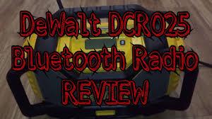 dewalt radio dcr025. dewalt 20v max bluetooth radio/charger review - dewalt dcr025 radio dcr025