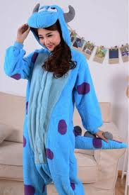 Kigurumi Onesie Size Chart Monsters Inc Sulley Onesie Kigurumi Pajamas Animal
