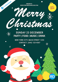 Free Christmas Flyer Templates Download Christmas Flyer Template Design Psd Free Download Poster