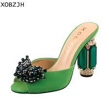 Italian Designer Rhinestone <b>Luxury</b> Sandals <b>Heels</b> Women Shoes ...