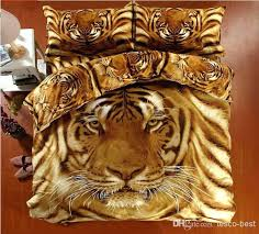 tiger comforter elegant prowess covers animal print bedding set duvet cover bed sheet bedclothes cotton home tiger bedding set
