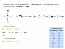 Bond Enthalpies Chemistry A Level Revision