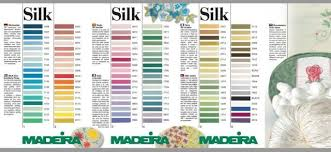 Imagini Pentru Madeira Silk Thread Colour Chart Dantela