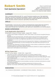Bank Reconciliation Resume Sample Cash Application Specialist Resume Samples Qwikresume