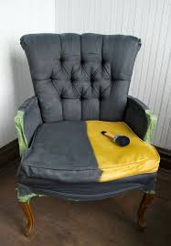 furniture fabric paintPainting Fabric Chairs Diy Fabric Chair Makeover With Paint