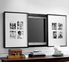 hidden tvs- gallery frame tv cover to display photos or artwork for a tv -  Pottery Barn via Atticmag