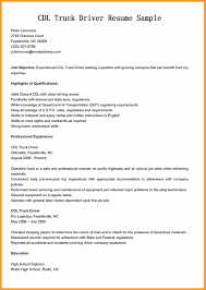 resume for truck drivers itemplated resume for truck drivers cdl truck driver resume sample jpg