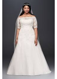 jewel 3 4 sleeve plus size wedding dress david s bridal