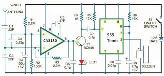 cell phone detector circuit diagram electronic projectcell phone detector circuit diagram