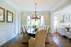 modern chair rail profiles. Perfect Chair Chair Rail Molding Divides Twotoned Walls In This Neutral Dining Inside Modern Profiles A