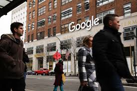 where is google office. Google\u0027s New York Office Is Shown In Lower Manhattan On March 5, 2018 Where Google