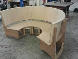 Banquette Seating Plans Semi Circular Seating Booth Ready For Upholstering Turret Ideas