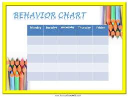 Free Printable Behavior Charts Customize Online