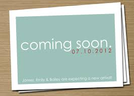 free ecard pregnancy announcement simple pregnancy announcement card design idea with turquoise