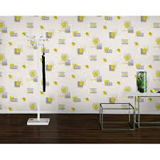 Wallpaper Kitchen Rasch Teatime Teapot Coffee Cup Polka Vinyl Kitchen Wallpaper 854015