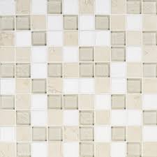 artistic tile stone oyster bay stone and glass square mosaic blend