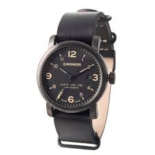 Wenger Watch Battery Chart Wenger Urban Hipster Watch 41mm Leather Strap For Men
